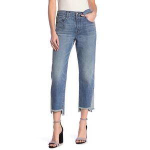 J Brand Wynne High Rise Crop Frayed Step Hem Jeans